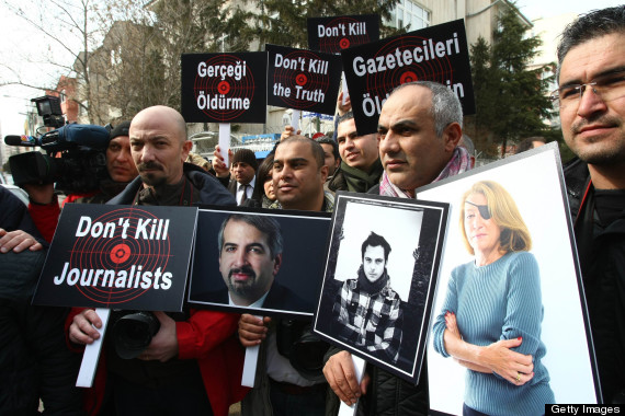 Turkish journalists in Ankara, on Februa