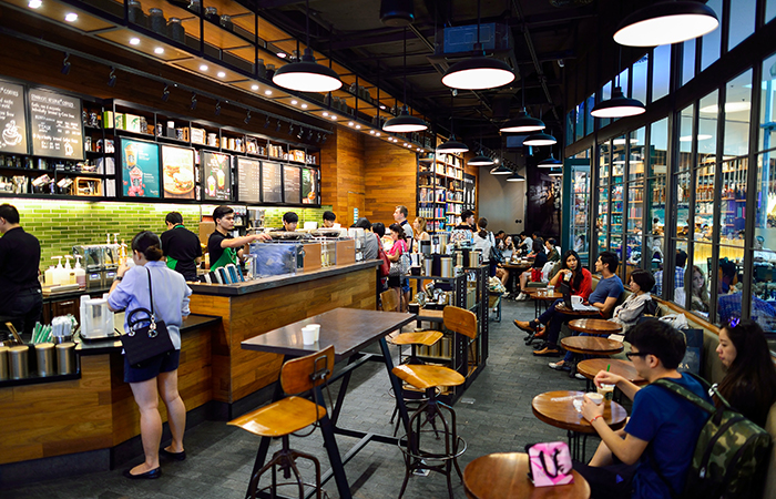 Starbucks Cafe interior