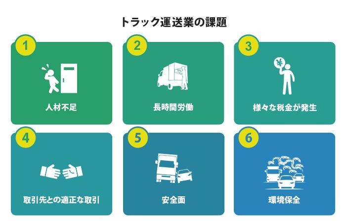 トラック運送業の課題
